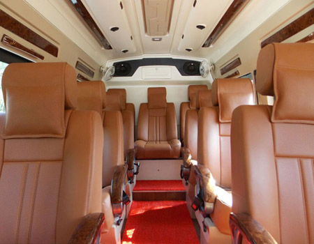 Luxury Tempo Traveller on Rent