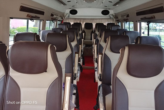 luxury tempo traveller Rent Delhi